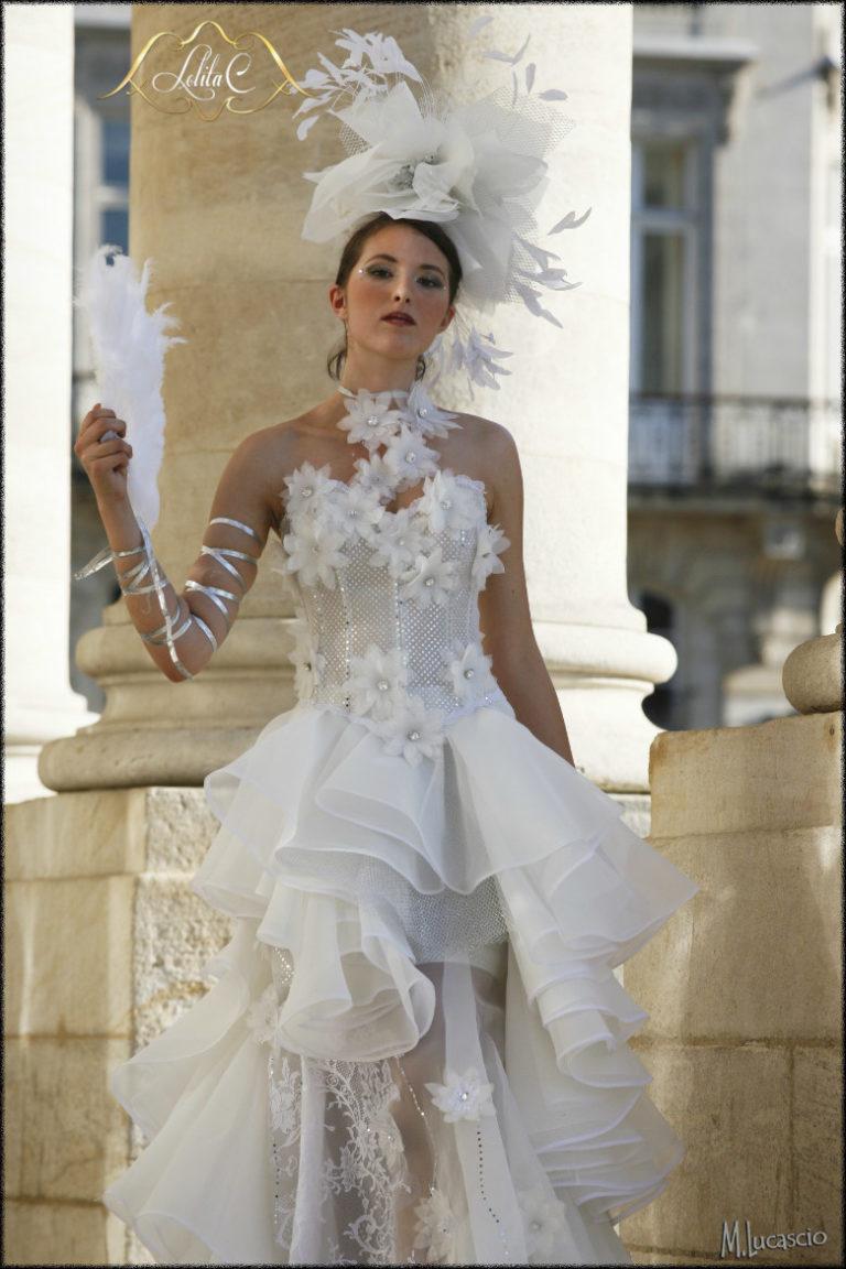 robe de mariée unique, plume, lolita C