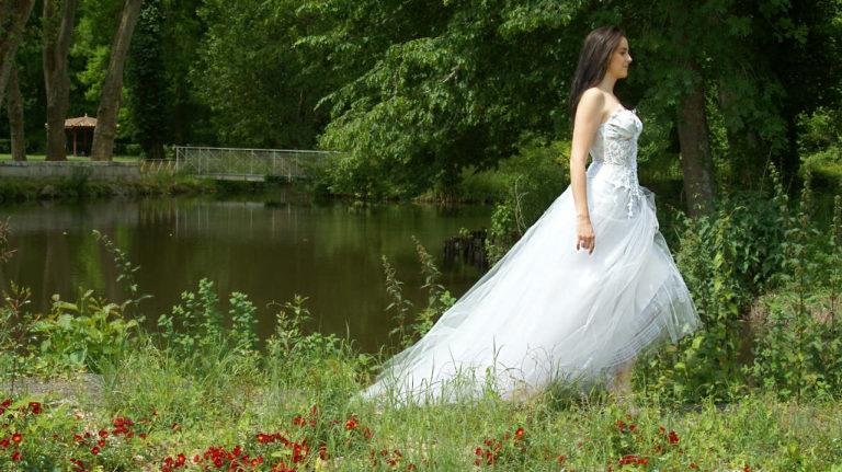 robe de mariée unique, Lolita C, bordeaux