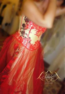 robe de mariée rouge , lolita C