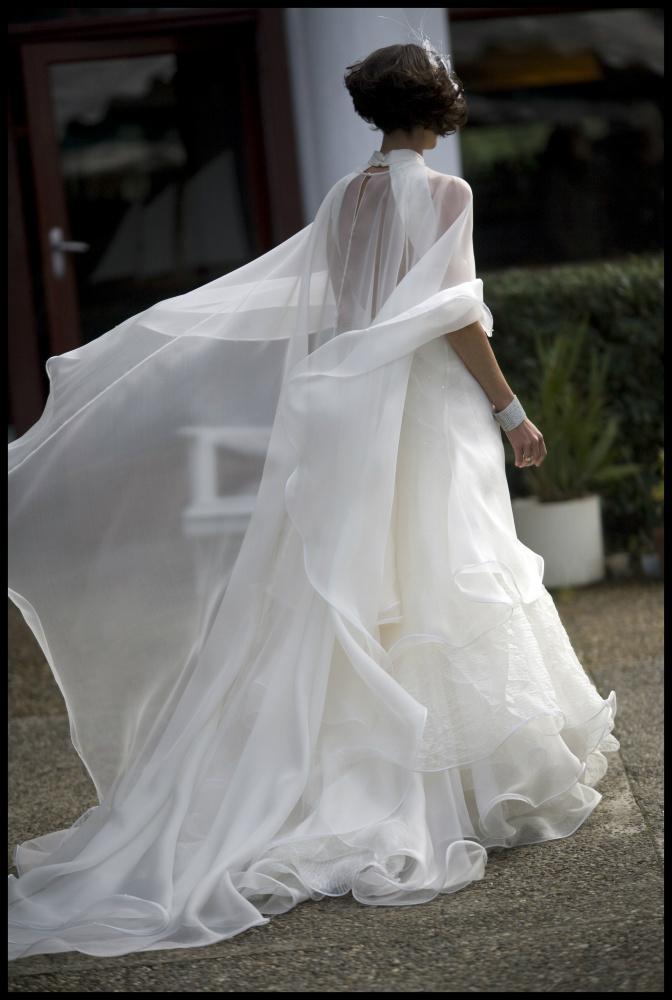 robe de mariée unique, tulle et organza, lolita C