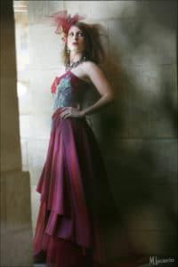 création robe sur mesure, robe de mariéerouge