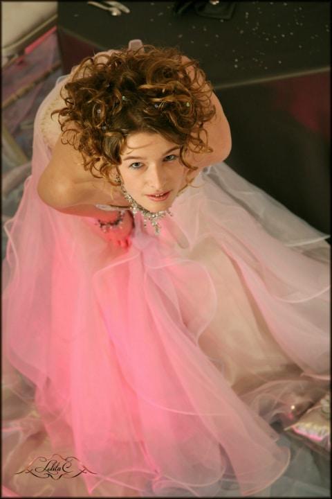 robe de mariée unique, robe guimauve