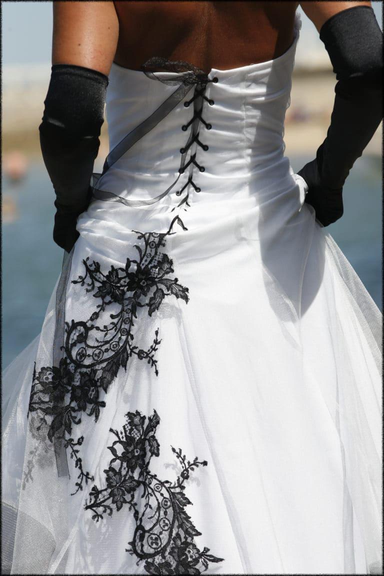 robe de mariée unique, Robe de mariée noire et blanche,