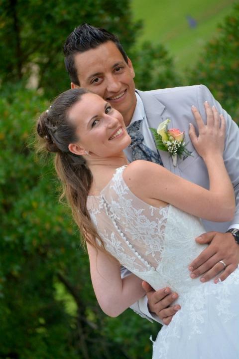 robe de mariée tulle et dentelle, lolita C, bordeaux