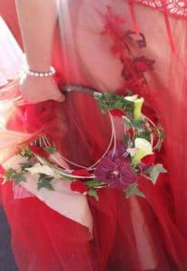 couronne de mariée bordeaux
