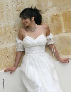robe de mariée unique, Lolita C, robe de mariée sur mesure bordeaux